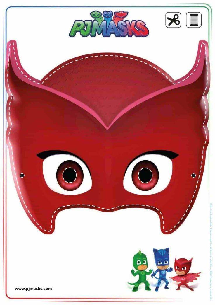 photo regarding Pj Mask Printable Template identified as Printables - PJ Masks Owlette, Gekko, Catboy Masks PJ