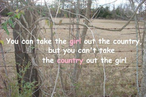 city born country girl.