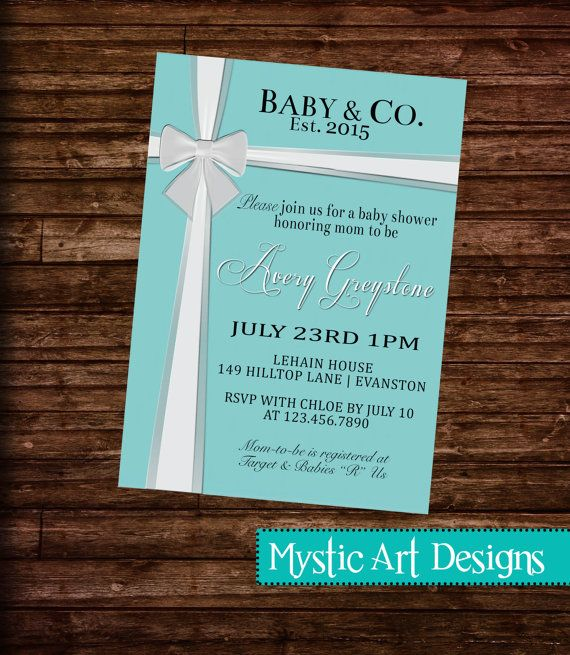 8 best invitations images on pinterest | shower ideas, tiffany, Baby shower invitations