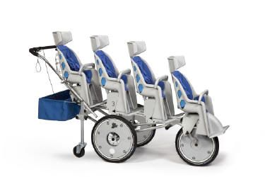 Commmercial Daycare Strollers - Folding Triple, Quad and Six Passenger Strollers, Multi-Child Buggies and Strollers including Runabout 2,3,4,5, 6 and 8 Seaters, Special Needs Stroller, and Accessories for Commercial Use in Hotels and Resorts, Daycares and more - Pricing in US and Canadian Dollars - US Customers pay no taxes