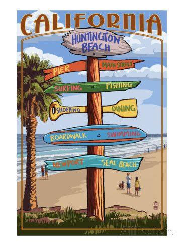 Huntington Beach, California - Destination Sign
