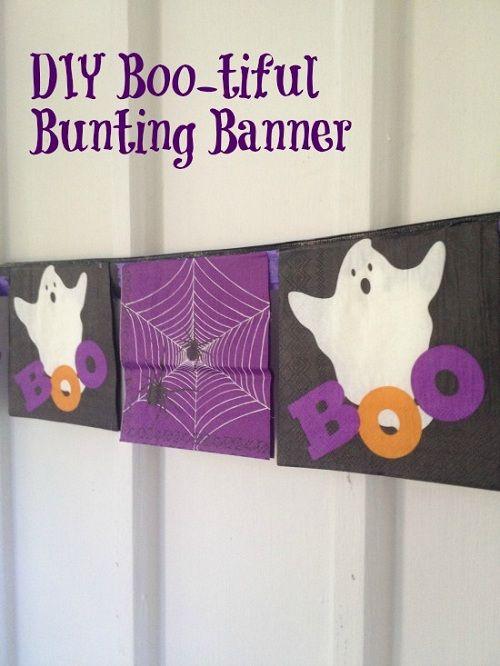 Dollar Store DIY: Boo-tiful Bunting Banner #halloween #diy #crafts