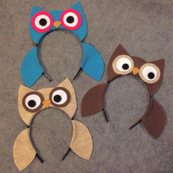www.partyears.etsy.com  Owl Custom Colors Woodland wild animal nature theme forest creatures ears eye headband birthday party favors supplies costume invitation hat child baby adult kid babies children ideas by www.partyears.etsy.com