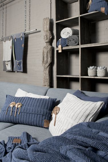 Nieuwe collectie kussens en plaids van the Knit Factory @Allison House! of Mayflower http://pinterest.com/byhouse/
