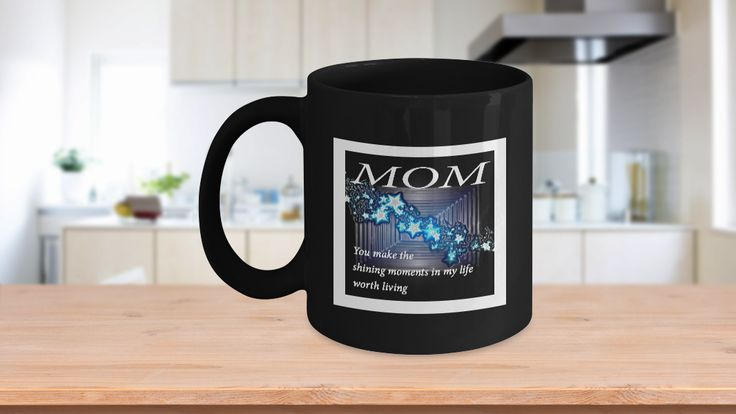 """* JUST RELEASED *This unique sentimental coffee mug will make Mom smile from ear to ear. If you are looking for a gift that your Mom will absolutely adore, then check out this one – """"Mom, You make the sharing moments in my life worth living"""" How sweet! It's a feel good present you could give for Mother's Day, Christmas, birthdays, anniversaries, retirement, graduation or any other occasion. Mugs like this one speaks to everyone on a personal level, making them feel special."""