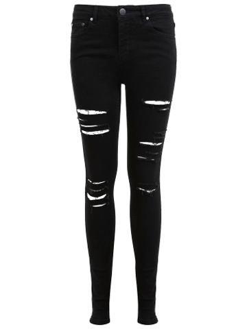 Buy Miss Selfridge Lizzie Shredded Jeans, Black | John Lewis