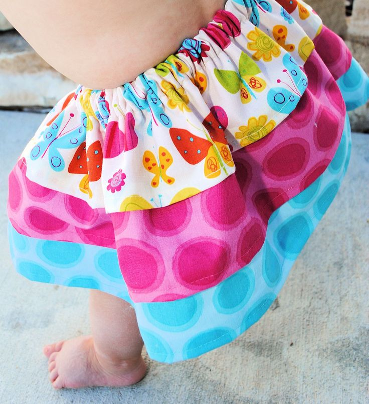 Easy Baby Skirt Pattern and Tutorial. This one looks SUPER easy.