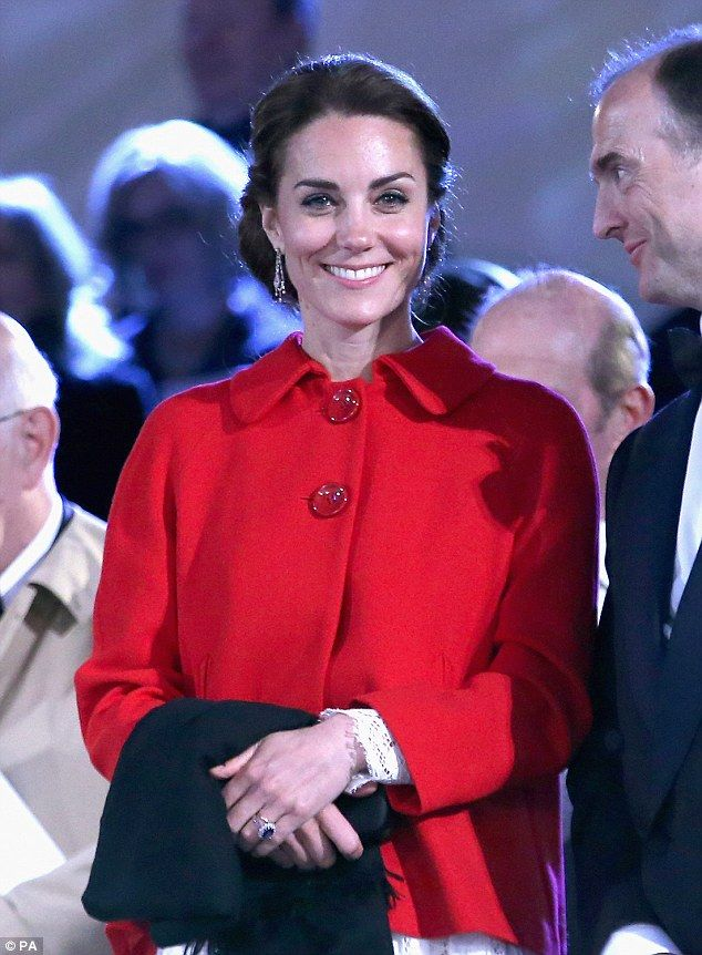 The Duchess of Cambridge, 34, proved she's a master of the high-low fashion mix, wearing a £49.99 red Zara blazer over a white lace D&G dress, costing £3,400, to the Queen's birthday celebrations at Windsor Castle