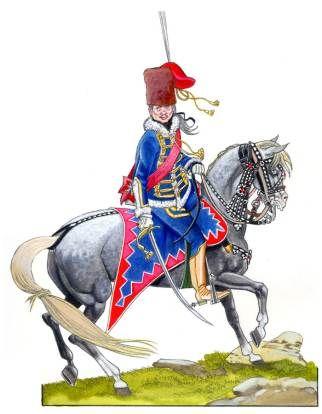 Zieten Hussar. Seven Years War
