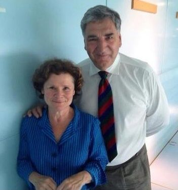 Carson of Downton Abbey and his lovely wife...jim carter and imelda staunton