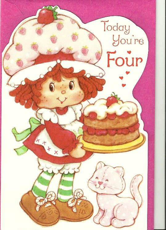 86 best Berry Sweet Cards images – Strawberry Shortcake Birthday Card