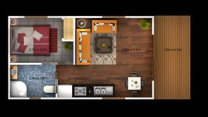 Garage Conversion to Annexe ; this is almost the perfect layout for me #tinyhouse