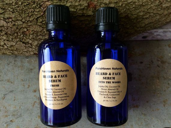 Men's Beard Face Serum Oil Beard Oil by PureHavenNaturals on Etsy
