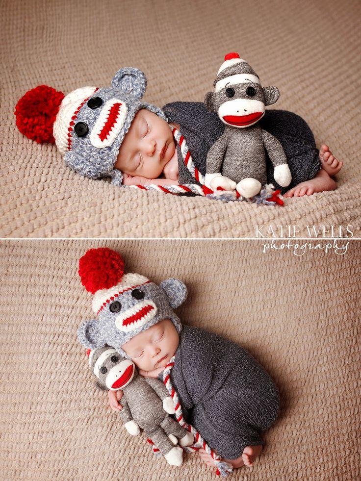 23 besten newborn sock monkey photo idea Bilder auf Pinterest ...