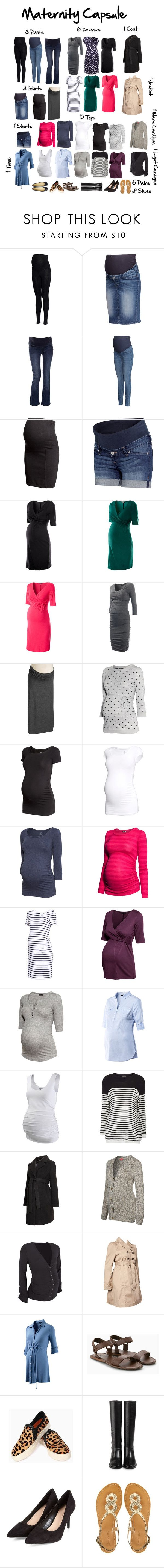 """Maternity Capsule Wardrobe"" by jensmith1228 ❤ liked on Polyvore featuring H&M, ESPRIT, Isabella Oliver, Old Navy, Topshop, Crave Maternity, Mama.licious, Christian Louboutin, MANGO and Cole Haan"