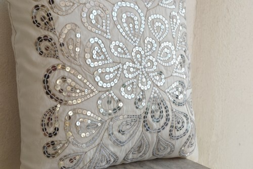 decorative silver pillows - Google Search