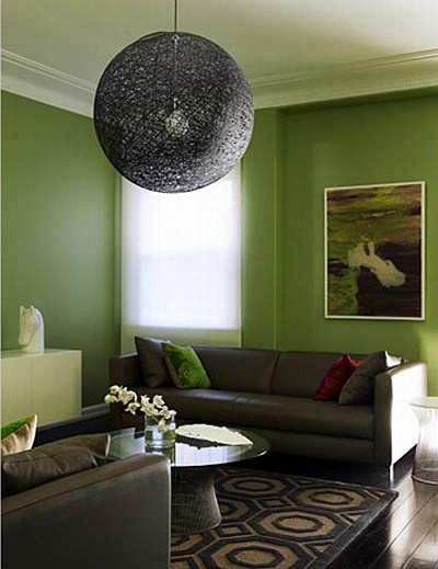 25 best images about lime green walls on pinterest green wall color eclectic living room and for Green and brown living room walls