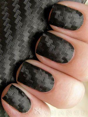 Carbon fiber nails tutorial, black, nails, nail art