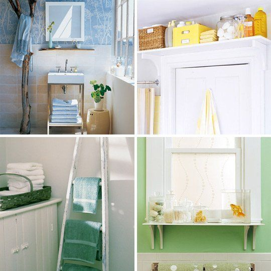 Sometimes it takes stepping out of your own bathroom and into someone else's to see the perfect storage solution.