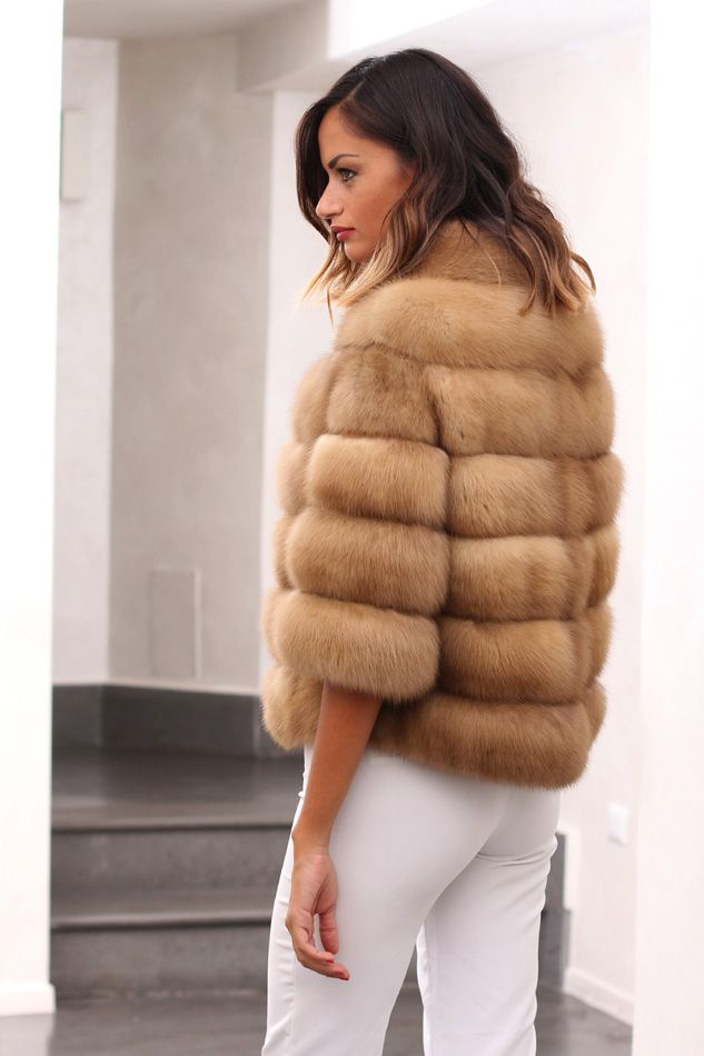 Russian Golden Sable Fur Jacket