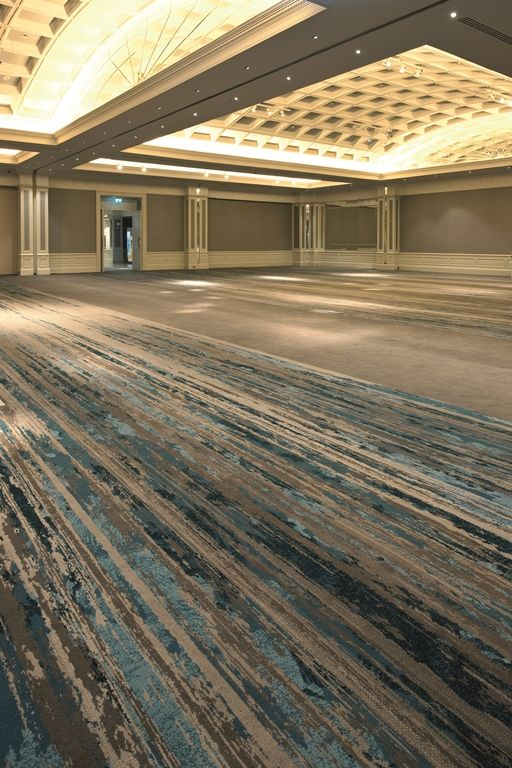 Ulster Carpets Burlington Hotel Ballroom Beautiful Blue and Warm Gray carpet