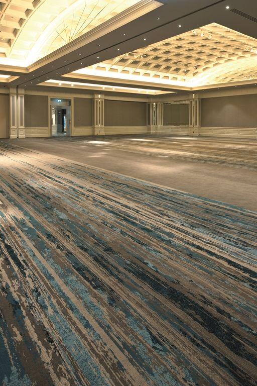 Ulster Carpets Burlington Hotel Ballroom Beautiful Blue and Warm Gray carpet