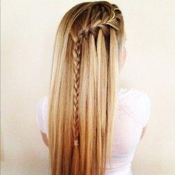 waterfall braid: French Braids, Waterfalls Braids, Waterf Braids, Hairstyles, Long Hair, Beautiful, Hair Style, Waterfall Braids, Braids Hair