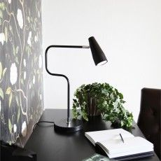 Matte black metal design table lamp designed by John Eliasson