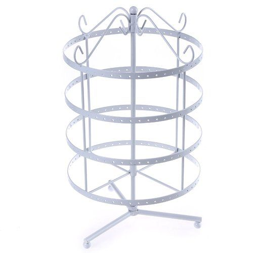 Jewellery Holder Jewellery Stand Metal Earring Necklace Bracelet Holder White JDS055