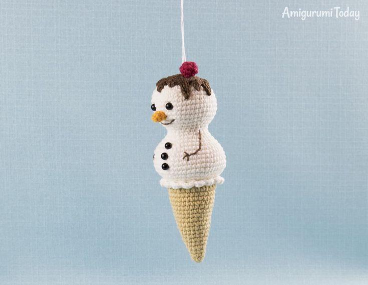 Amigurumi Ice Cream Snowman - Free crochet pattern by Amigurumi Today