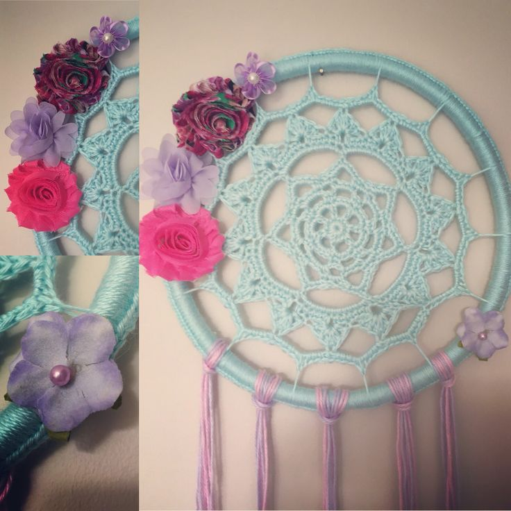 Blue pink and purple dream catcher