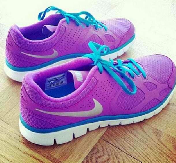 Purple Nike's - Super Cute!