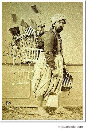 SEYYAR SATICI (street peddler). Istanbul, 1880.