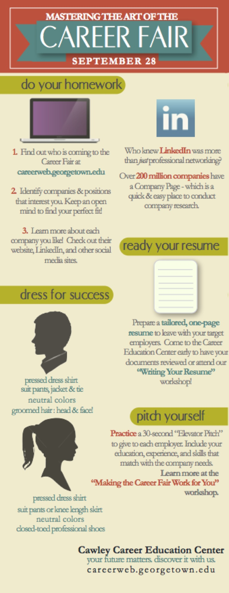 images about career fair tips tricks career fair preparation infovisual designed by k sargent georgetown career education center