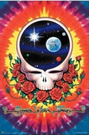"""Grateful Dead - Space Your Face Poster - $9.99  Space Your Face tie dye Grateful Dead poster that measures approximately 24"""" x 36"""". Officially licensed Grateful Dead merchandise."""