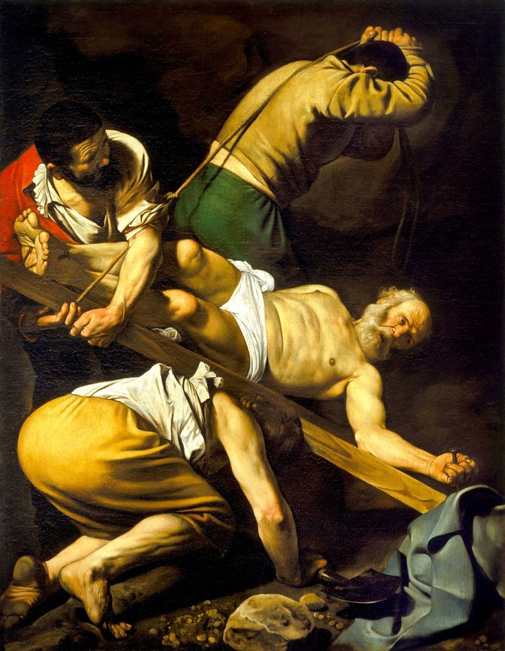 Unframed Canvas Prints - The Crucifixion Of St Peter - By Caravaggio