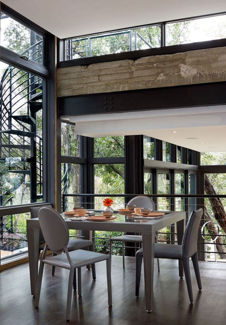 Contemporary Dining Area Design Ideas With Gray Dining Table And Chairs:  Contemporary Eco Friendly