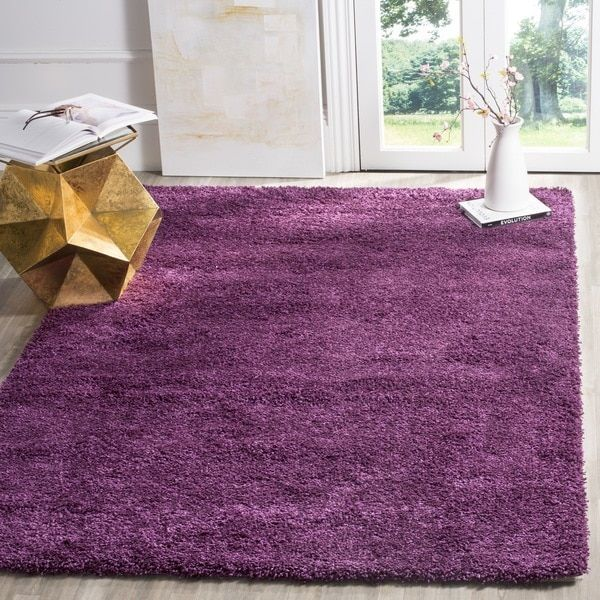 Safavieh California Cozy Solid Purple Shag Rug (9'6 x 13')