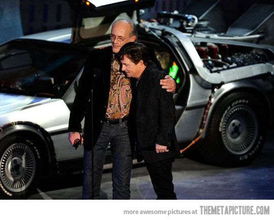 """""""Old Friends Reunite"""" - Christopher Lloyd and Michael J. Fox - Back to the Future"""