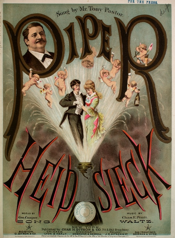 1878 Piper Heidsieck champagne sheet music cover