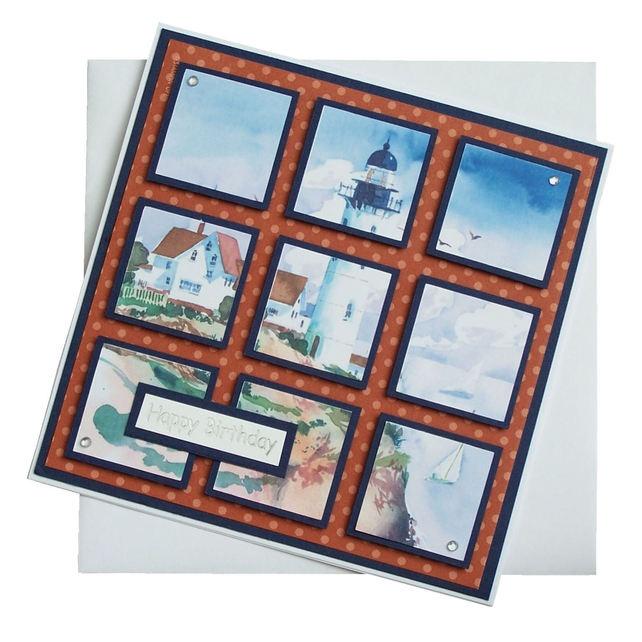 Handmade Lighthouse Birthday Card £1.80