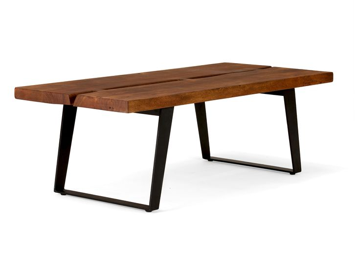 Industriedesign Mbel Couchtisch Massivholz