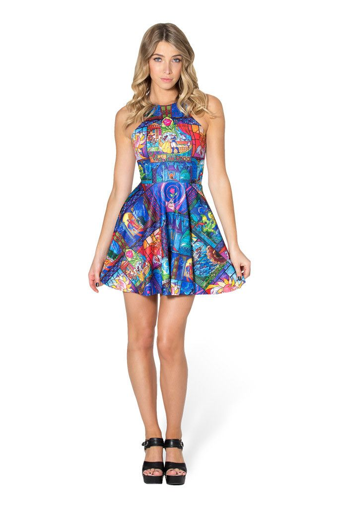 Tale As Old As Time Reversible Skater Dress - LIMITED – Black Milk Clothing