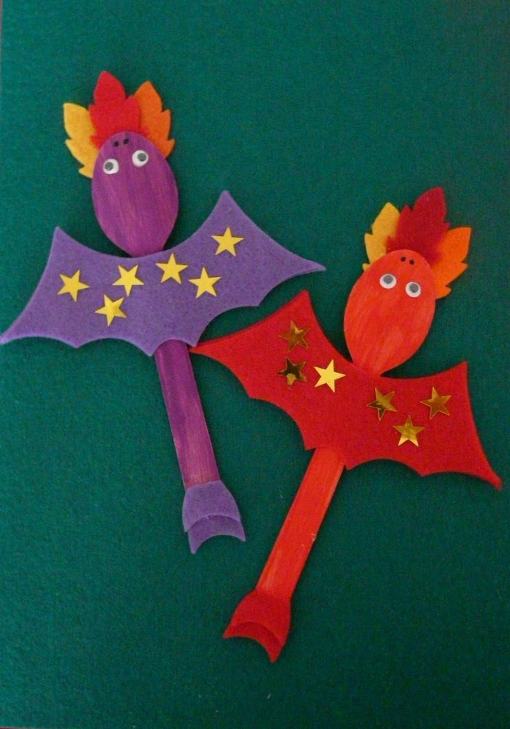 Purple & Red Spoon Dragons