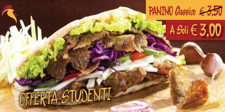 Offerta Speciale per tutti gli Studenti. Durante settimana anche #Weekend. Il PANINO con carne e verdure miste. solo il € 3,00 #Studenti #Vicenza #Offerta #Speciale #Boun