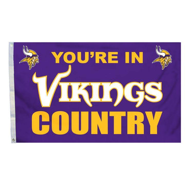 Minnesota Vikings Country 3X5 Flag