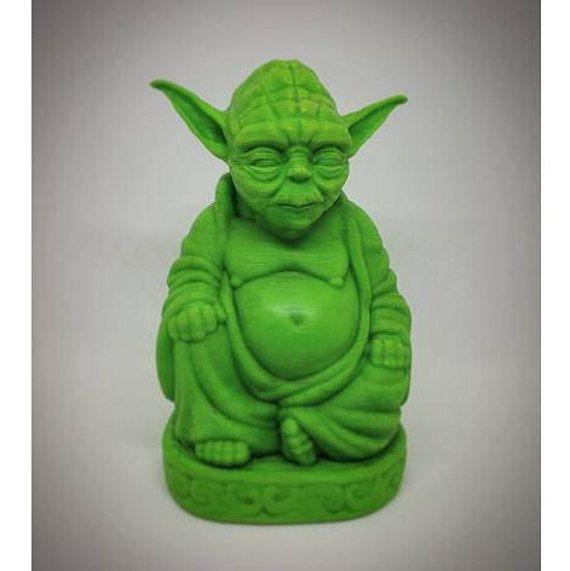 NEW* Yoda Buddha | Yoda Statue | Star Wars Figurine | Star Wars | Laughing Buddha | Pop Buddha | Master Yoda | Buddha