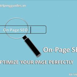 On page SEO:Optimize your page perfectly