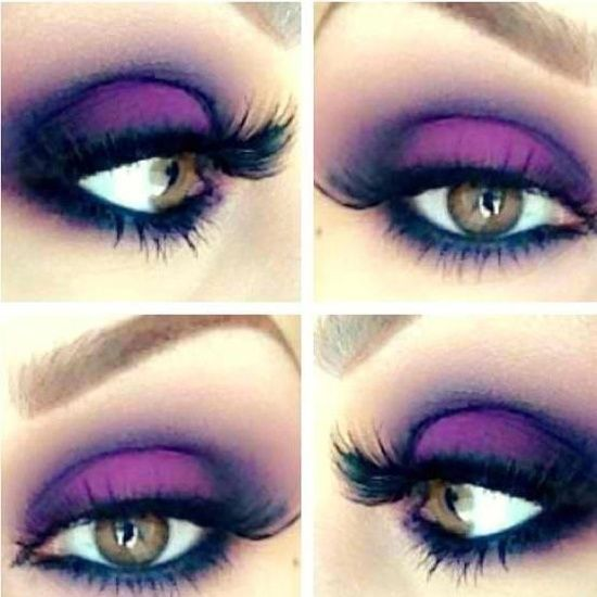 Electric Purple smokey eye. This would look amazing on someone with a deep set crease and brown eyes.