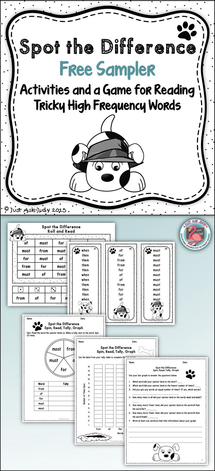 This FREE resource includes activities and a game to reinforce the accurate reading of high frequency words that are typically confused by young or struggling readers. Grades 1-3